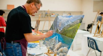 man-painting